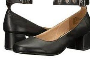 Union Bay black ankle strap pump sz 8.5